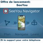 Abonnement SeeYou avec Navigator (iOS/Android)+ en option support avec chargeur.